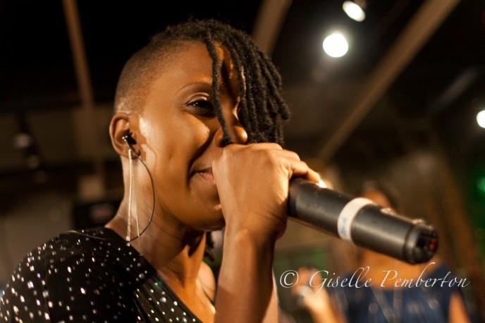 Fay-Ann Lyons performing at Aura, Port-of-Spain, Trinidad
